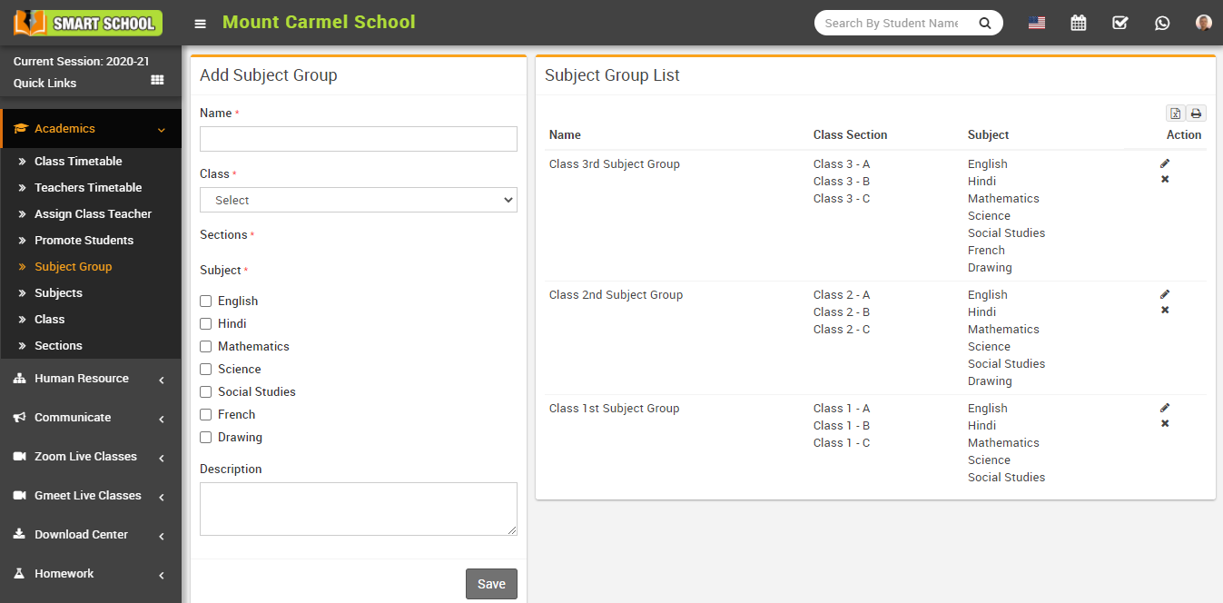 Add subject group image