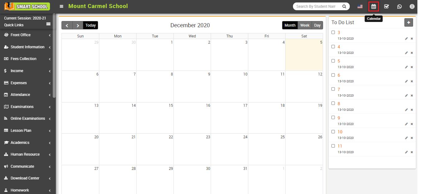 About calendar image
