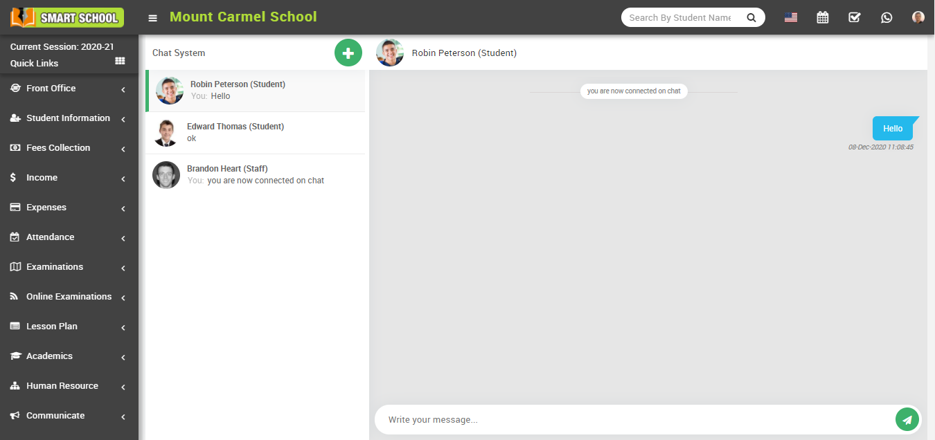 Chat window image