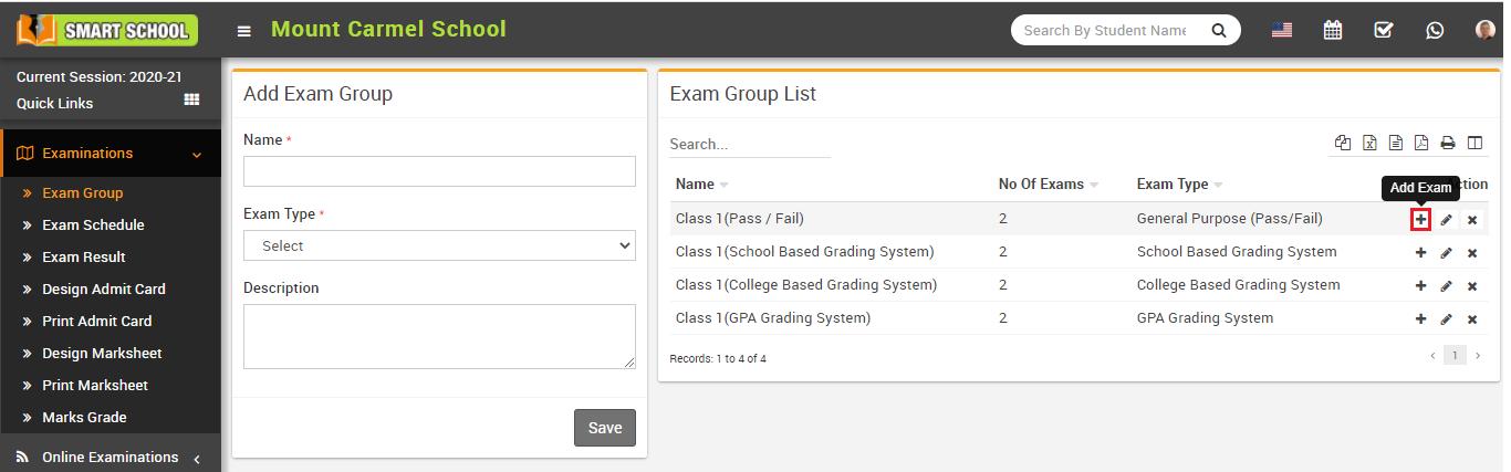 Add exam image