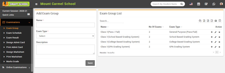 Add exam group image