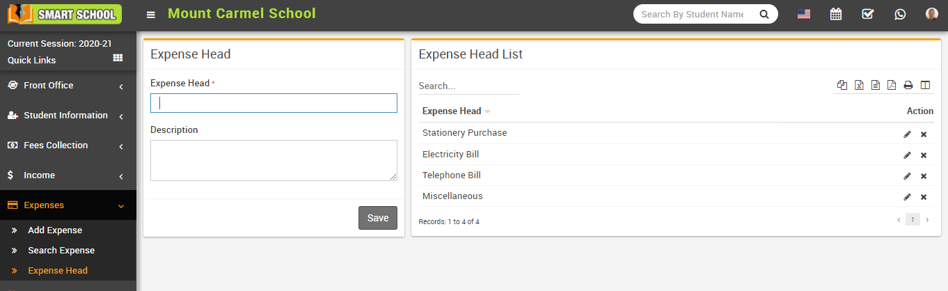 Add expense head image