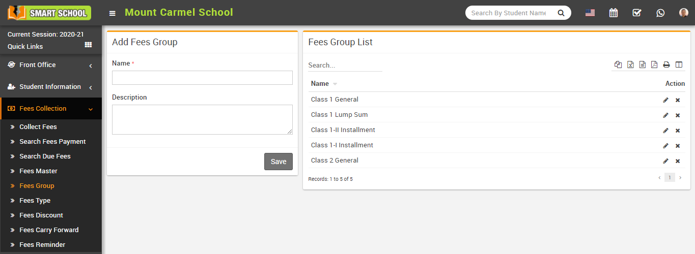 Add fees group image