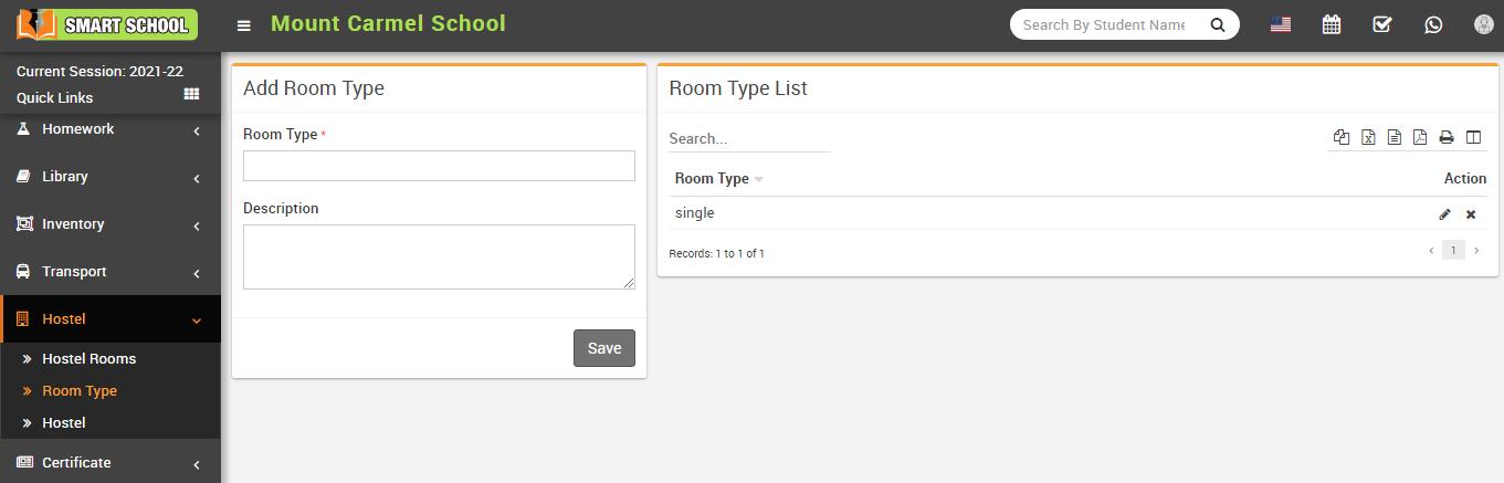 Add room type image