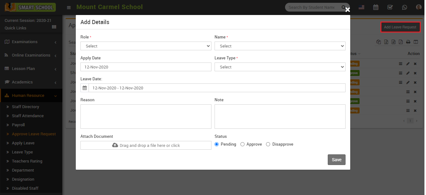 Add leave request image