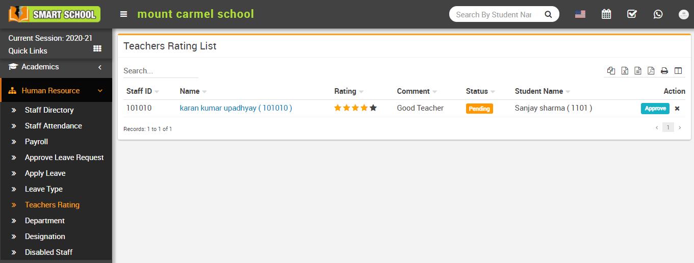 Teacher rating image
