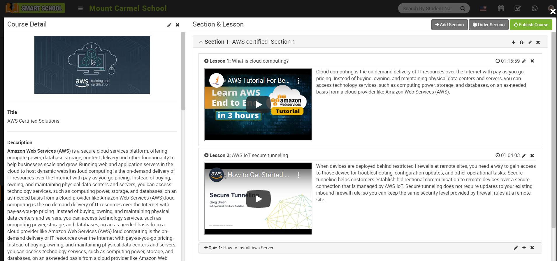 publish course image