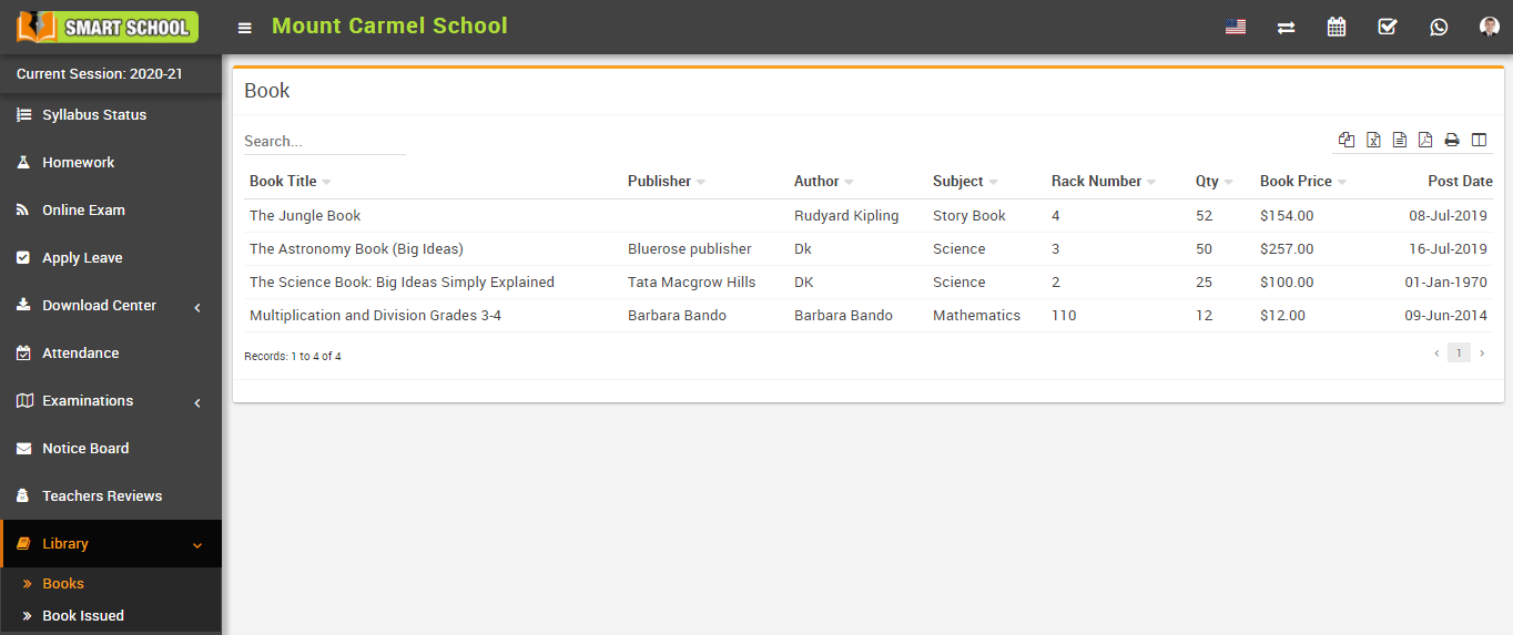 Student Book List