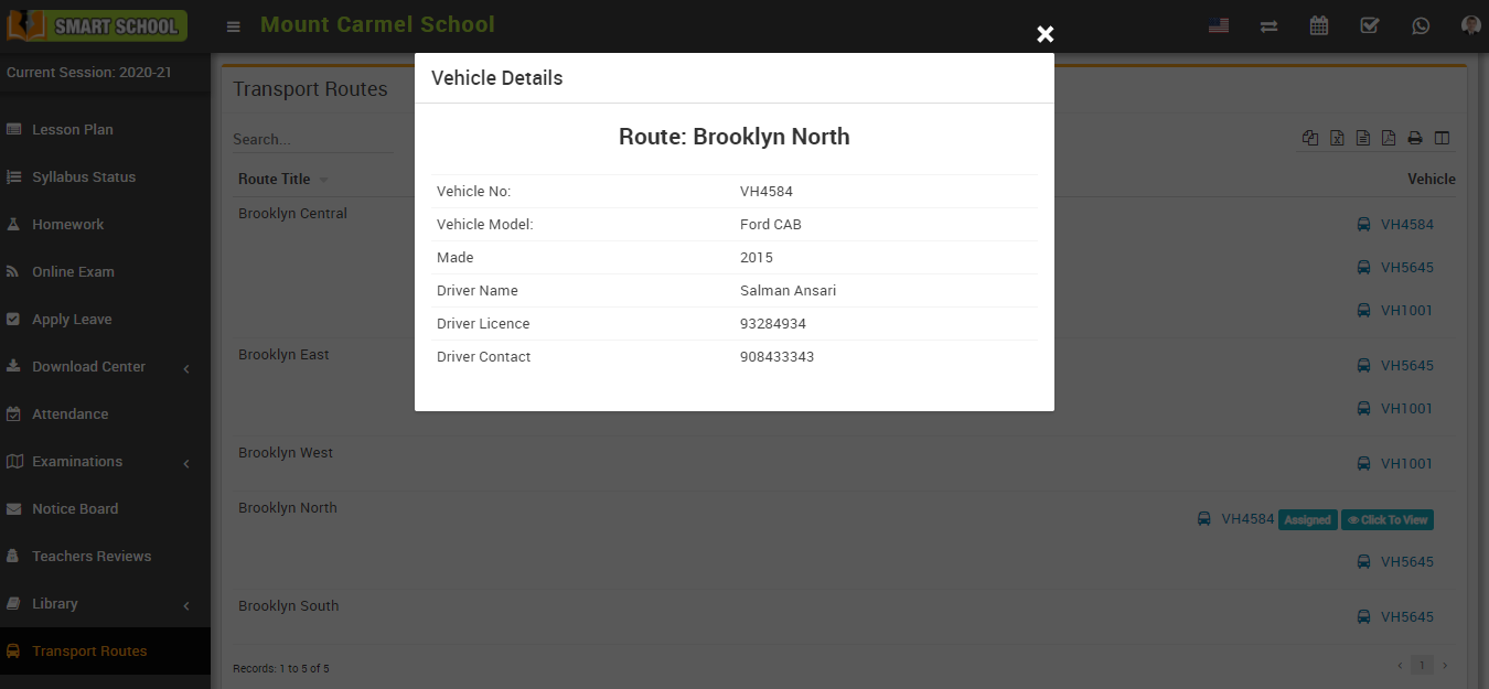 Vehicle details image